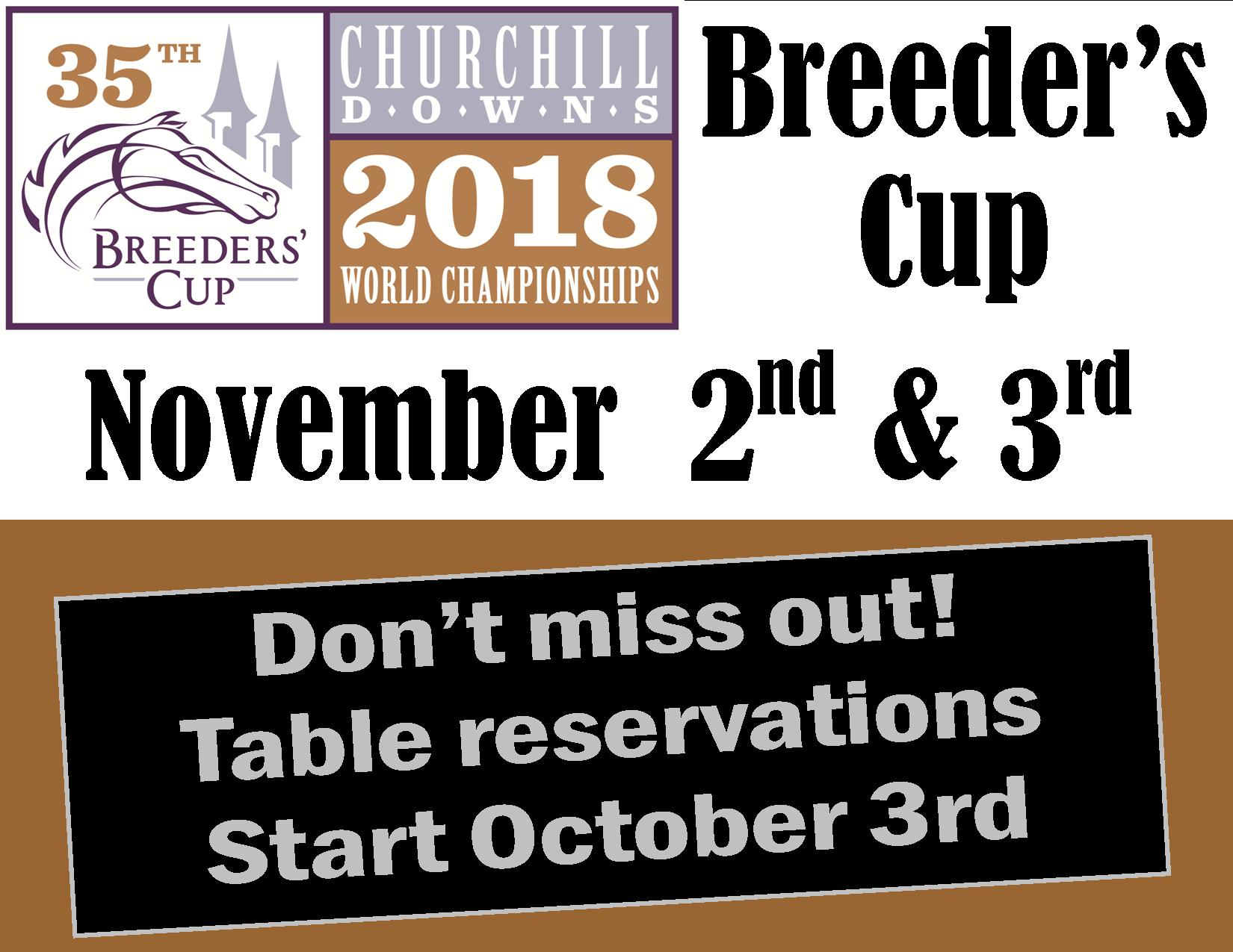 Breeders Cup Live Table Reservations Start Oct 3.jpg